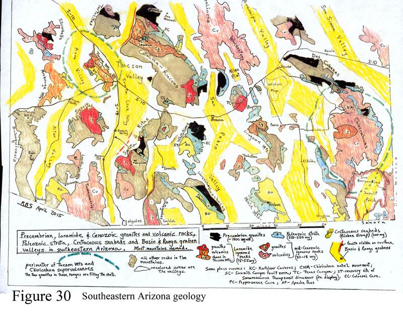 Geologic Map of southeastern Arizona, GEOLOGICAL HISTORY OF THE