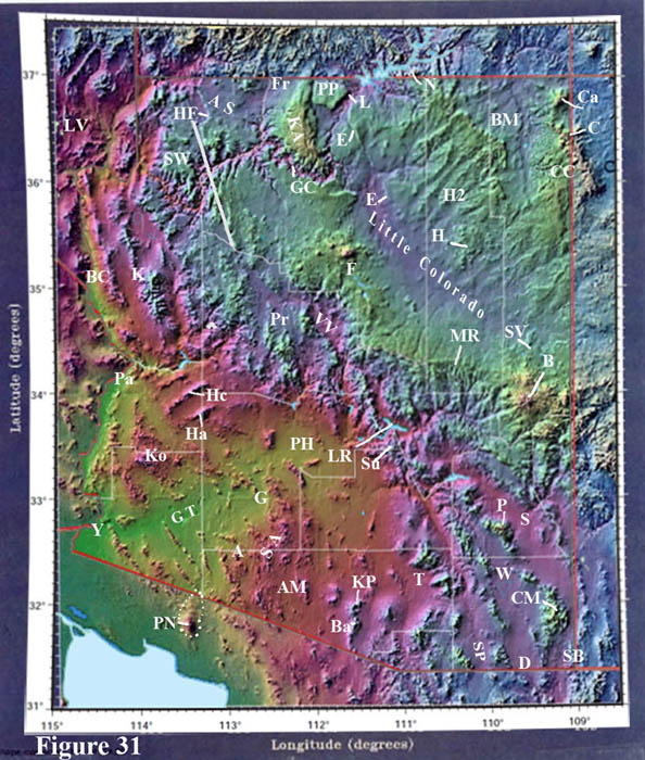 Map Of Southwest Arizona.Topographic Map Of Arizona Geological History Of The Southwest