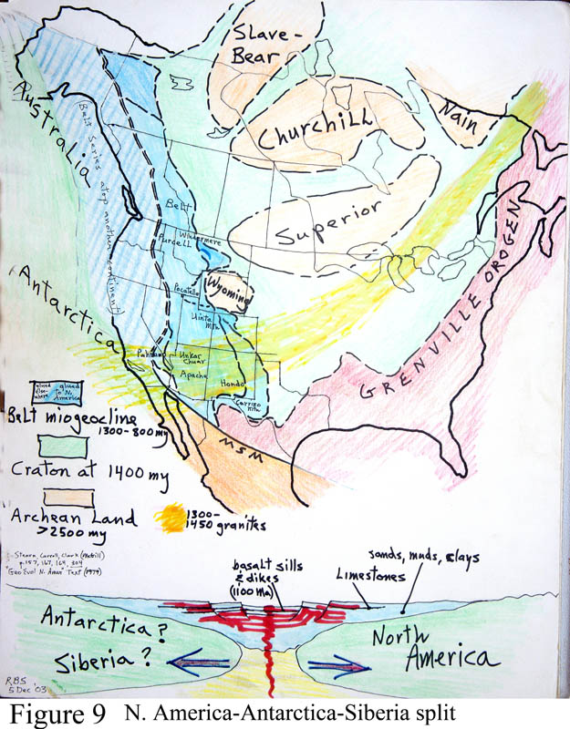 Southwest America Map.Maps Of Rodinia Supercontinent Geological History Of The Southwest
