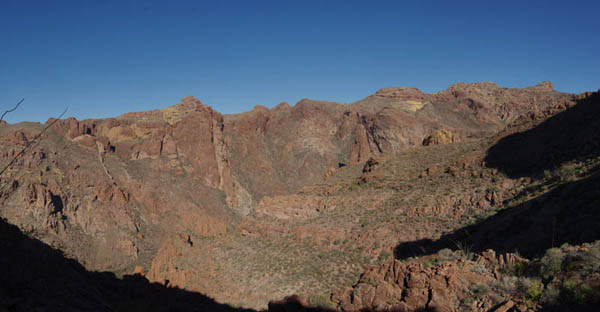 Arch Canyon panorama from near overlook