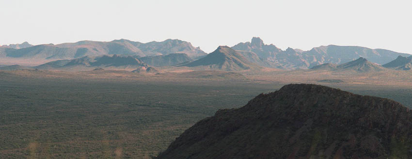 Bates Mountains with Scarface Mountain in foreground