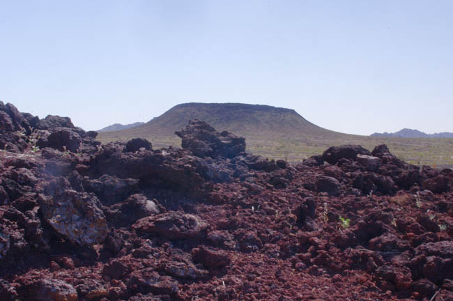 Pinacate Lava Flows with cinder cones